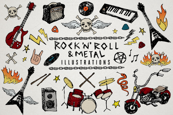 Rock N Roll Metal Illustrations