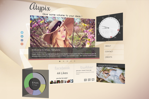 Atypix 3D WebGL Theme For Ghost
