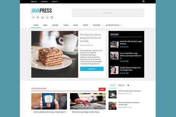 Javapress Elegant WP Magazine