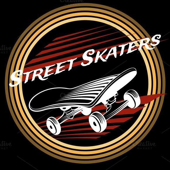 Skateboard In Circle Logo