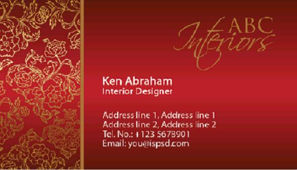 S7 4 Interior Design Business Cards