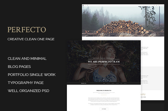 Perfecto Creative Minimal Onepage