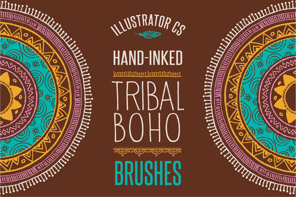 50 Boho Tribal Gypsy Ai Brushes
