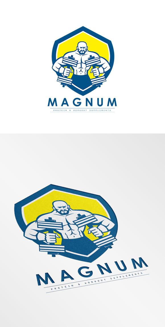 Magnum Protein Supplement Logo