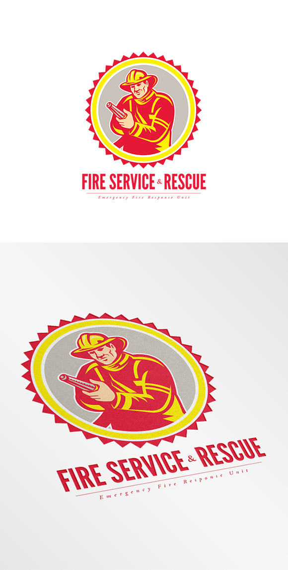 Fire Service And Rescue Logo