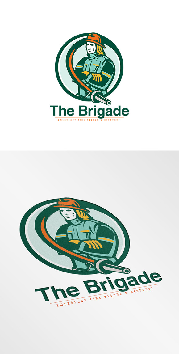 Brigade Emergency Fire Rescue Logo