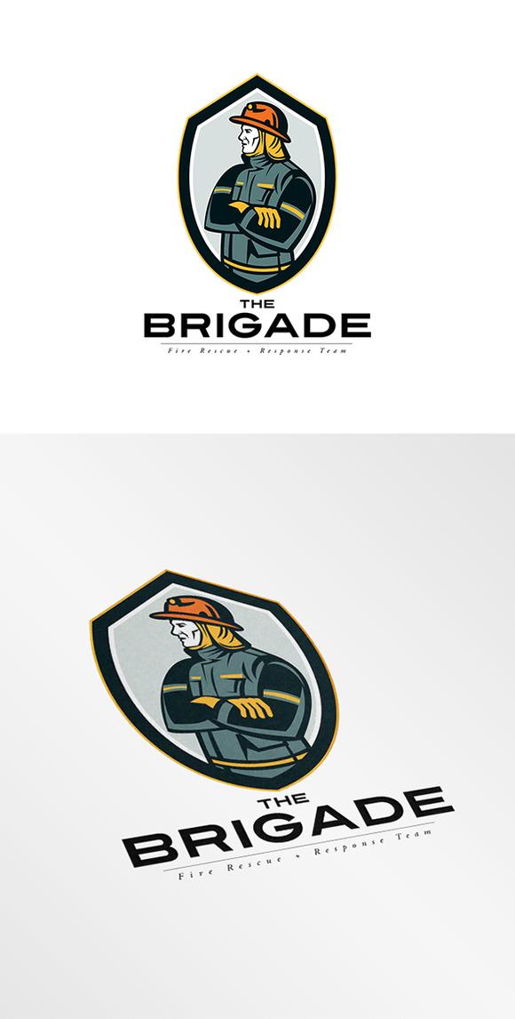 The Brigade Fire Rescue Team Logo