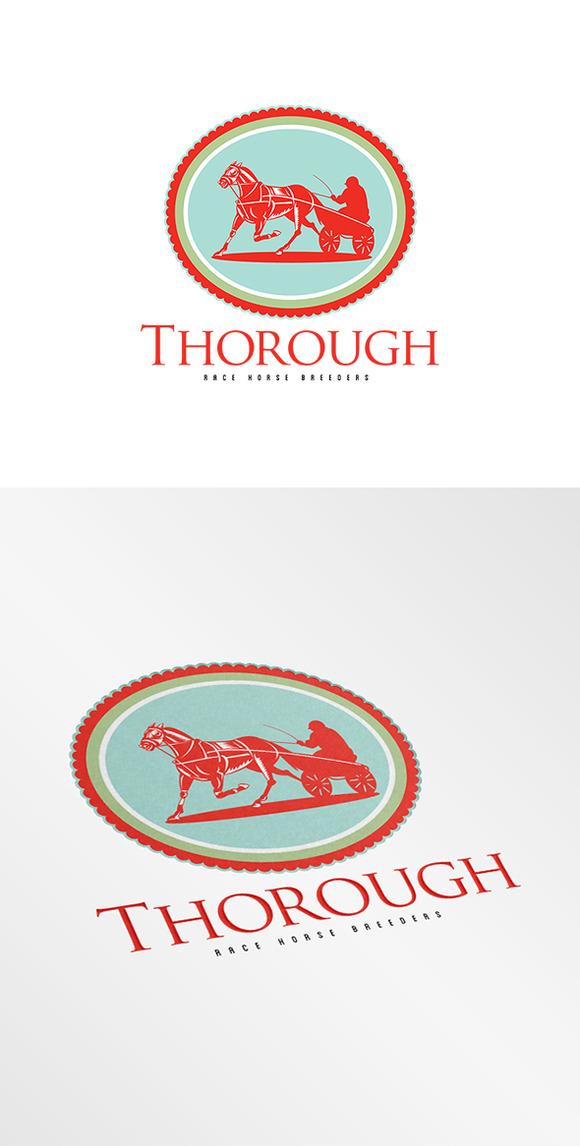 Thorough Race Horse Breeders Logo