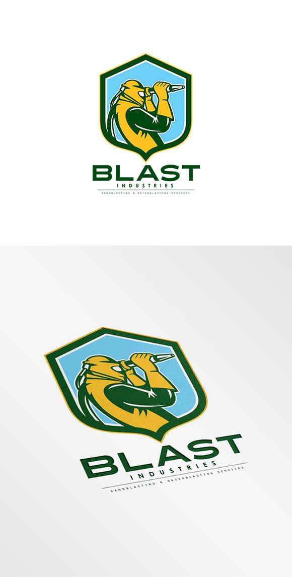 Blast Industries Sandblasting Logo