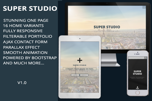 SUPER STUDIO Parallax Onepage