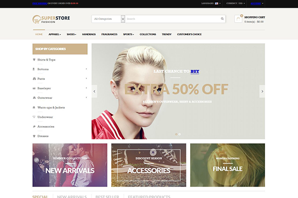 Leo Fashion Store Prestashop Theme