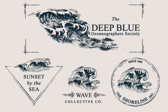Wave Drawings Logo Templates