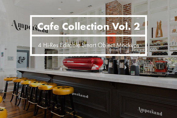 Cafe Collection Vol 2 PSD Mockups