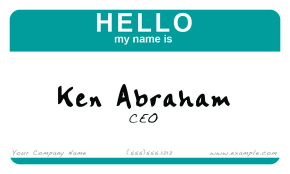S7 Hello Business Card