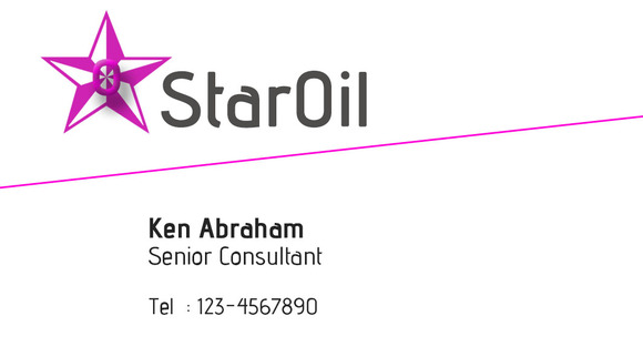 S7 Star Oil Business Card