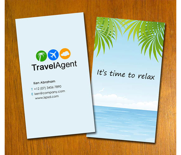 S7 Travel Agent Business Card