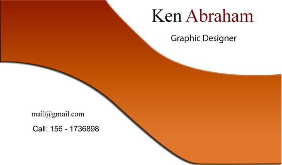 S7 Orange White Business Card