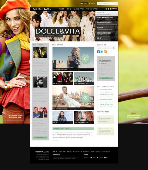 Fashion Days PSD Template