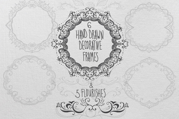 Decorative Frames And Flourishes