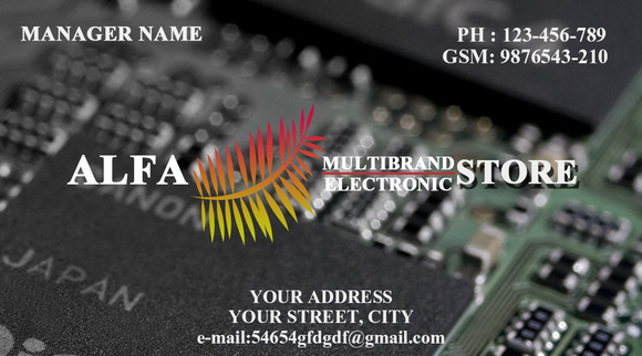 S7 Electronic Store Business Card
