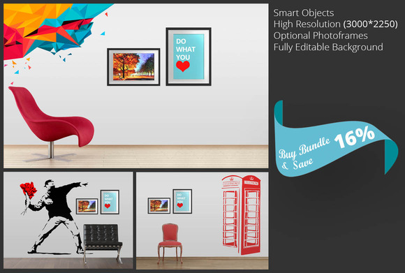 Wall Art Mockup Bundle Vol 1
