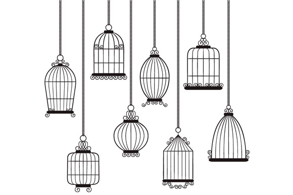 Digital Bird Cages Set