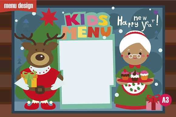 Kids Menu Christmas Characters