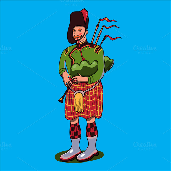 Scotsman In Vector