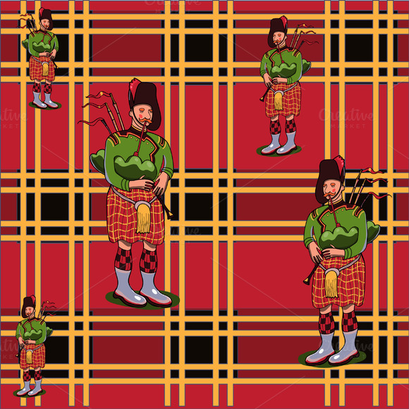 Scottish Pattern In Vector