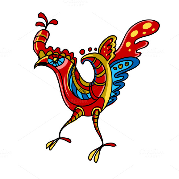 Vector Decorative Cock