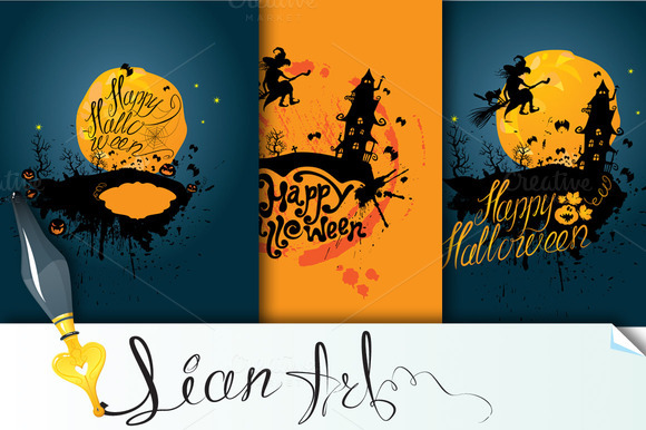 3 Cards Happy Halloween