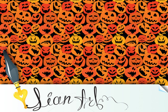 Halloween Seamless Pattern Pumpkin