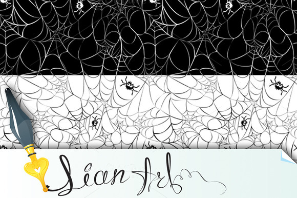 Set Of 2 Halloween Seamless Patterns