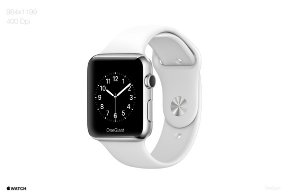400DPI Apple Watch Mockup