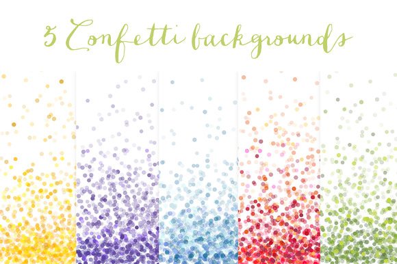 Confetti Backgrounds Vol.1