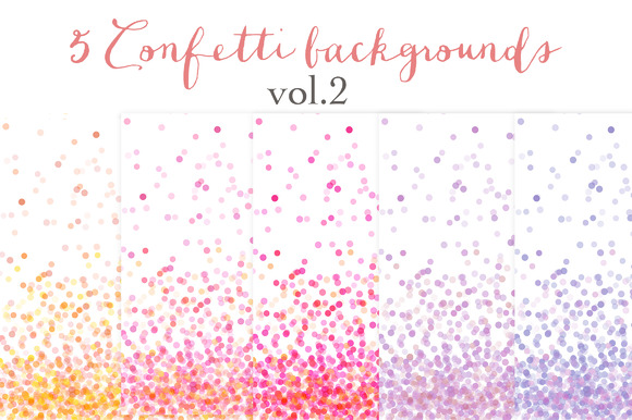 Confetti Backgrounds Vol.2