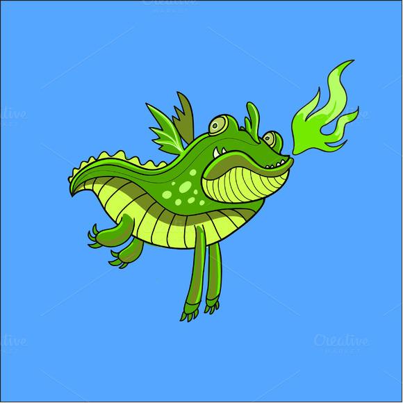 Fat Dragon In Vector