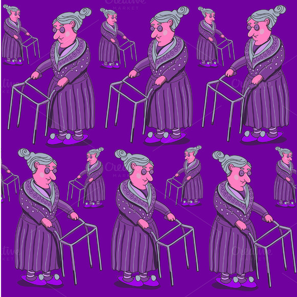 Granny Pattern In Vector