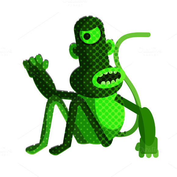 Monkey In Vector