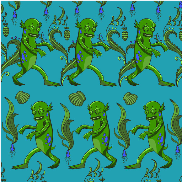 Swamp Monster Pattern