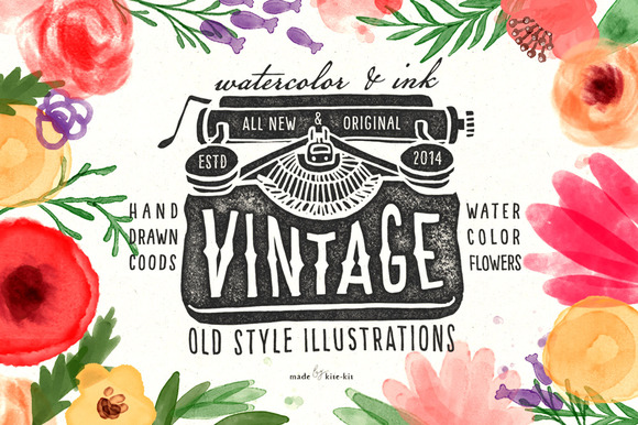 20%*OFF*Vintage Objects Watercolor