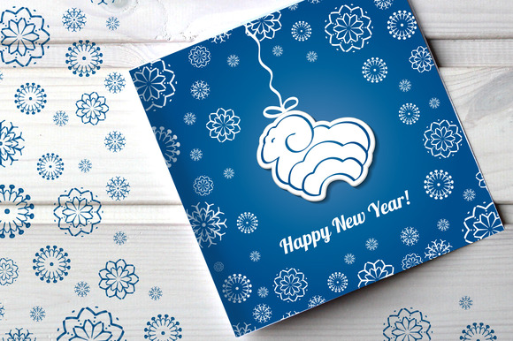 New Year Cards With Sheep