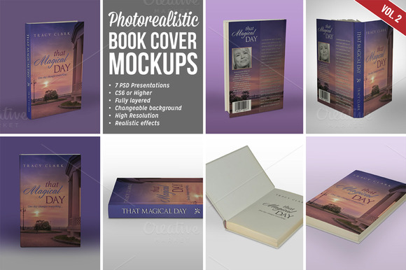 Photorealistic Book Cover Mockups 02