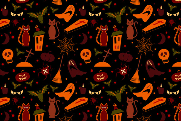 2 Halloween Seamless Pattern