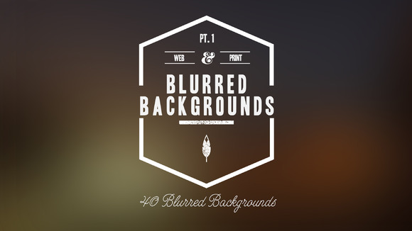 40 HD Blurred Backgrounds