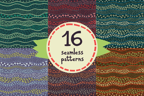 16 Wavy Seamless Patterns