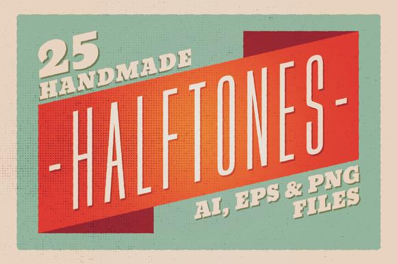 25 Halftones Texture Pack