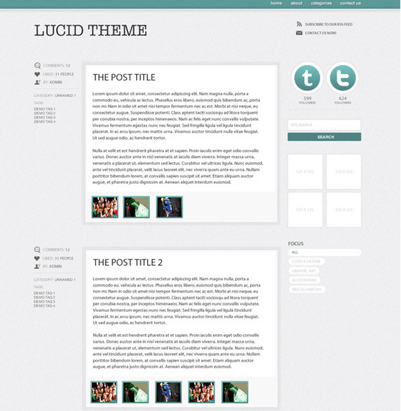 PT Lucid Wordpress Blog Theme