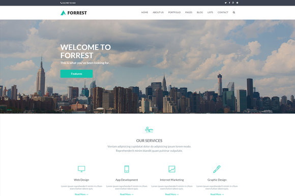 Forrest Multipurpose HTML Template