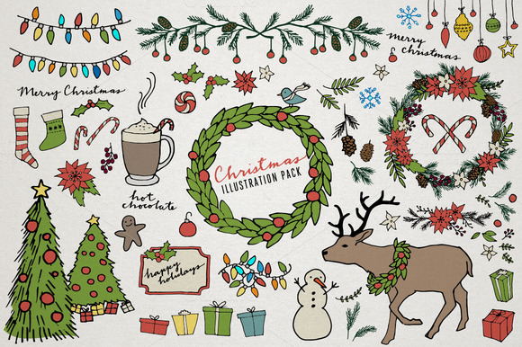 Christmas Holiday Illustrations